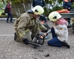 В рамках месячника пожарной безопасности в школе № 128 проведена  учебная эвакуация