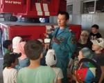 Воспитанники летнего лагеря при мечети «Рамазан» посетили ПЧ-8 ФГКУ «22 отряд ФПС по Республике Башкортостан»