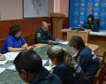 Выступление психологов отряда в режиме ВКС с диспетчерами и радиотелефонистами подразделений